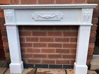 Chunky wooden fire surround