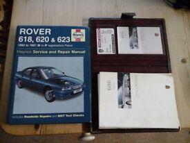 rover 600 manual and handbook