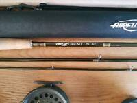 Fly fishing rod and reels