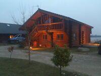 Luxury 8 Berth Log Cabin in Lincolnshire