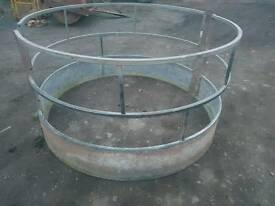 Sheep horse round bale ring feeder farm livestock tractor