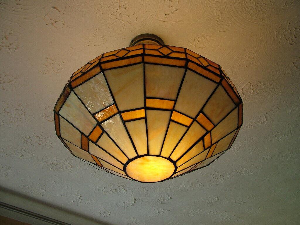 Tiffany Style Semi Flush Ceiling Lights Pair In Virginia Water Surrey Gumtree