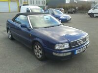 AUDI 80 CABRIOLET 1.8 20 VALVE MANUAL WITH NEW MOT
