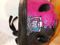 Monster High girls bicycle helmet unused