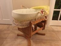 Mothercare Gliding Moses Basket Stand and Moses basket