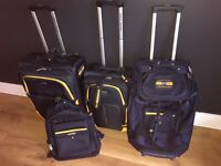 Polo Ralph Lauren x4 piece matching luggage suitcase set