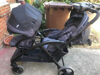 JOIE double buggy tandem pushchair stroller