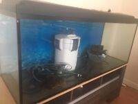 450 LITRES WITH INSIDE AND OUTSIDE FILTER AND LIGHTS.SHELF NOT INCLUDED 07481150476