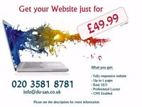 Get your website done just for £49.99