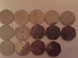 One Hundred Years Of Girl Guiding 50p Pence Coins