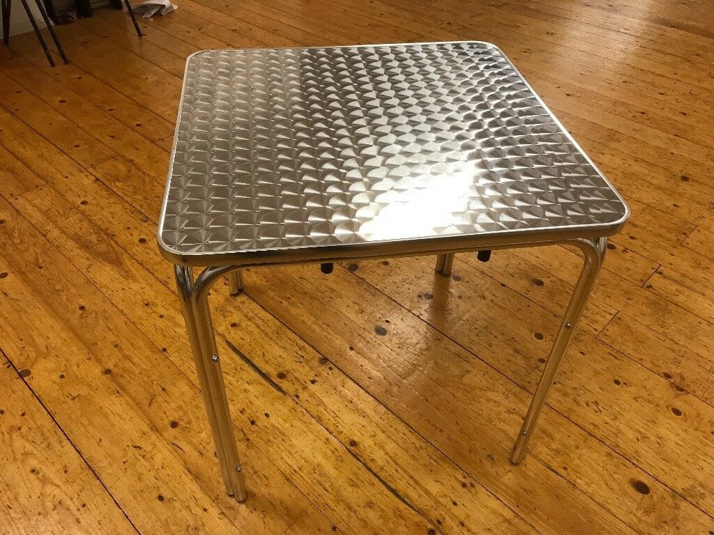 3' x 3' Square Aluminium Stacking Tables, 10 Available