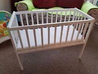 Kiddicare Dream Crib White + Airflow Luxurious Crib Mattress