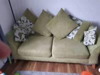 Green dfs sofa