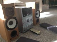 sony hifi system with DAB radio 3 disc cd