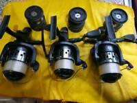 3 x Fox Stratos FS10000E baitrunner