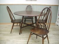 Stunning Ercol Table and Quaker Chairs