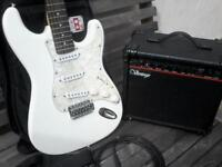 fender stratocaster copy + amp