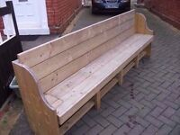 Church Pew Style Garden Bench Made to measure Deliver Available £100
