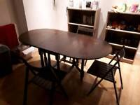 Dropleaf Table and Chairs