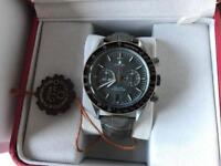 Swiss Omega SpeedMaster Chronograph Watch Grey