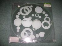 4 glass placemats and 4 matching coasters (ex dunelm) - £4