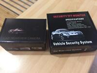 Car rear view camera and lcd screen