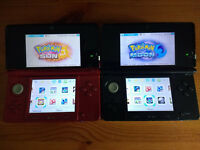3DS Red or Black with 90 3DS Games (inc all pokemon all lego all mario sonic zelda) and 175 DS Games