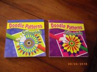 Childrens/Adults Colouring books patterns x 2