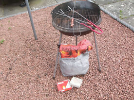 Lightweight Foldaway Barbeque with Tools, Charcoal and Firelighters