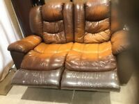 2 Seater Leather Recliner sofa - FREE