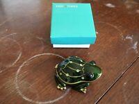 Past Times Frog Trinket Box