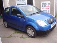 2006 CITROEN C2 L SERVICE HISTORY MOT APRIL 2017 IDEAL FIRST CAR VERY CLEAN LOW MILEAGE FOR YEAR