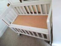 John Lewis Troll bedside Crib with extras!