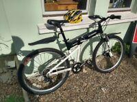 ECOSMO Folding Mountain Bike + Helmet, Great Condition