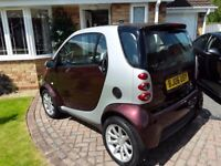 Fortwo smart car. 700cc. New cam belt and wiper motor. Recently serviced, mot april 18.