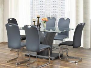 5 PC Dining Set - Grey Finish (KA214)