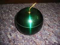 Large Emerald green apple shaped ice bucket
