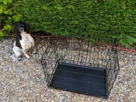 Fold flat medium pet carrier/cage