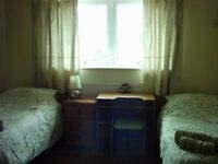 Large Twin Room available for short lets from 2nd July