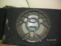 pioneer subwoofer in cabinet