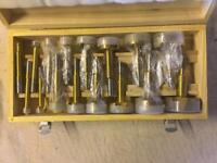 "Forster bits set in wooden case. Imperial sizes 1/4"" to 2 1/4"" X16 items woodwork"