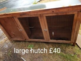 Large hutch and cage