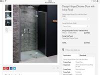 Crosswater Design 900mm Hinged door chrome