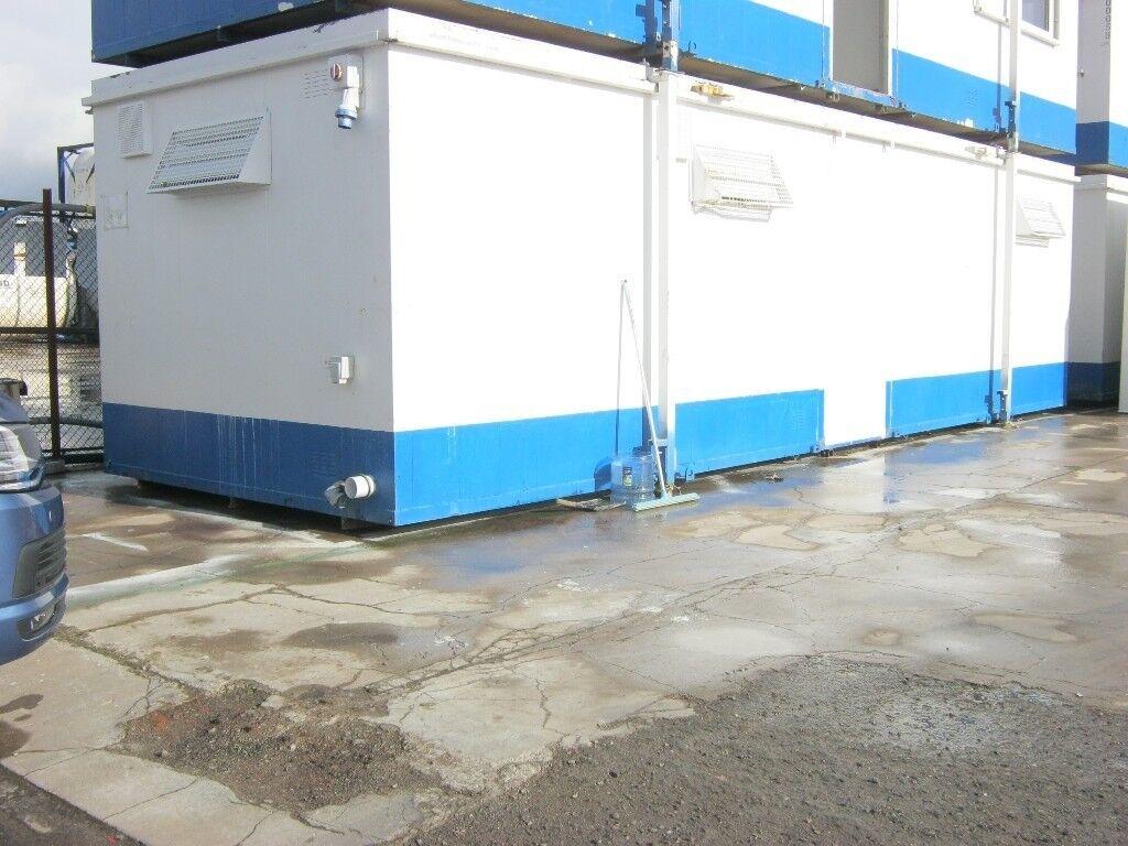 32ft 10ft Anti Vandal Portable Cabin SITE TOILET SHOWER welfare unit ...