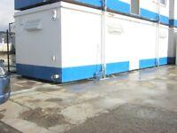 32ft 10ft Anti Vandal Portable Cabin SITE TOILET SHOWER welfare unit steel container scotland