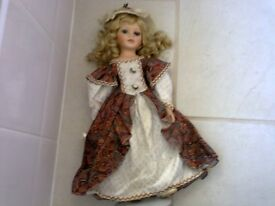 Lovely doll on a stand