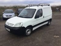 53 REG CITREON BERLINGO VAN BIG ROOF RACK READY FOR WORK IN WHITE LOW MILEAGE PX CONSIDERED 1yrs mot