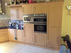 Replacing kitchen. Units, worktop and appliances for sale. All has to go, very cheap!