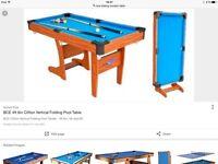 BCE folding pool/snooker table
