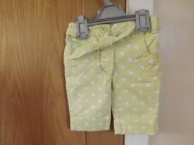 Girls Next Cropped Trousers Age 9-12 Months